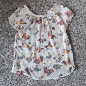 Mudd butterfly shirt